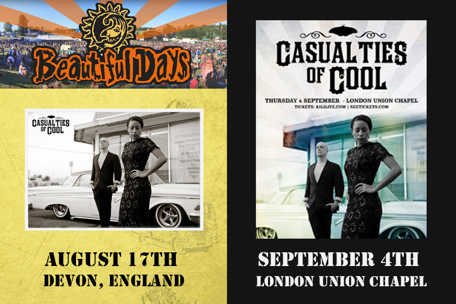 Casualties of Cool Beautiful Days Festival and Union Chapel shows